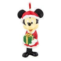 Image of Santa Mickey Mouse Bell Ornament # 1