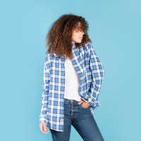 Image of Belle Flannel Shirt for Adults by Cakeworthy # 5