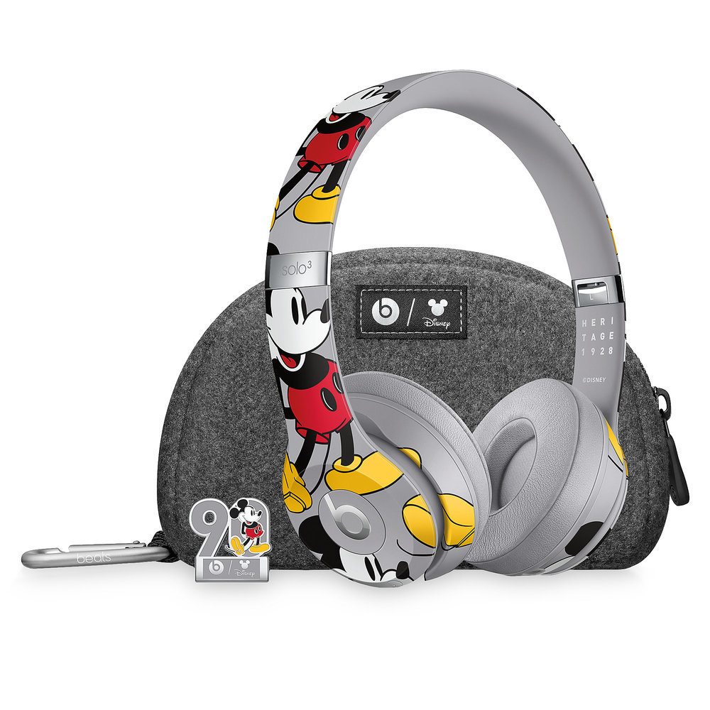 Beats Solo3 Wireless Headphones - Mickeys 90th Anniversary Edition - Gray Official shopDisney