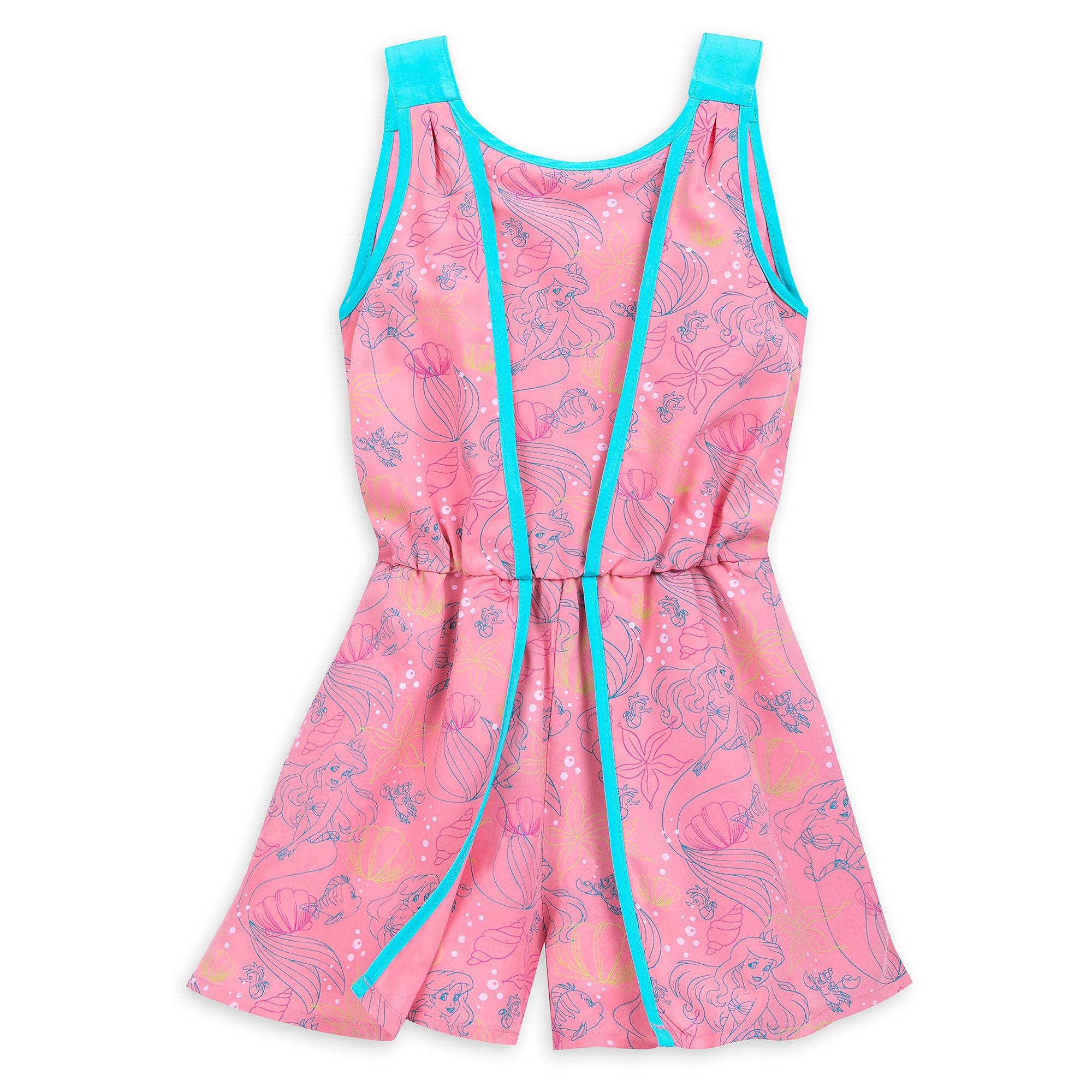 The Little Mermaid Woven Romper for Girls