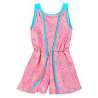 Image of The Little Mermaid Woven Romper for Girls # 1