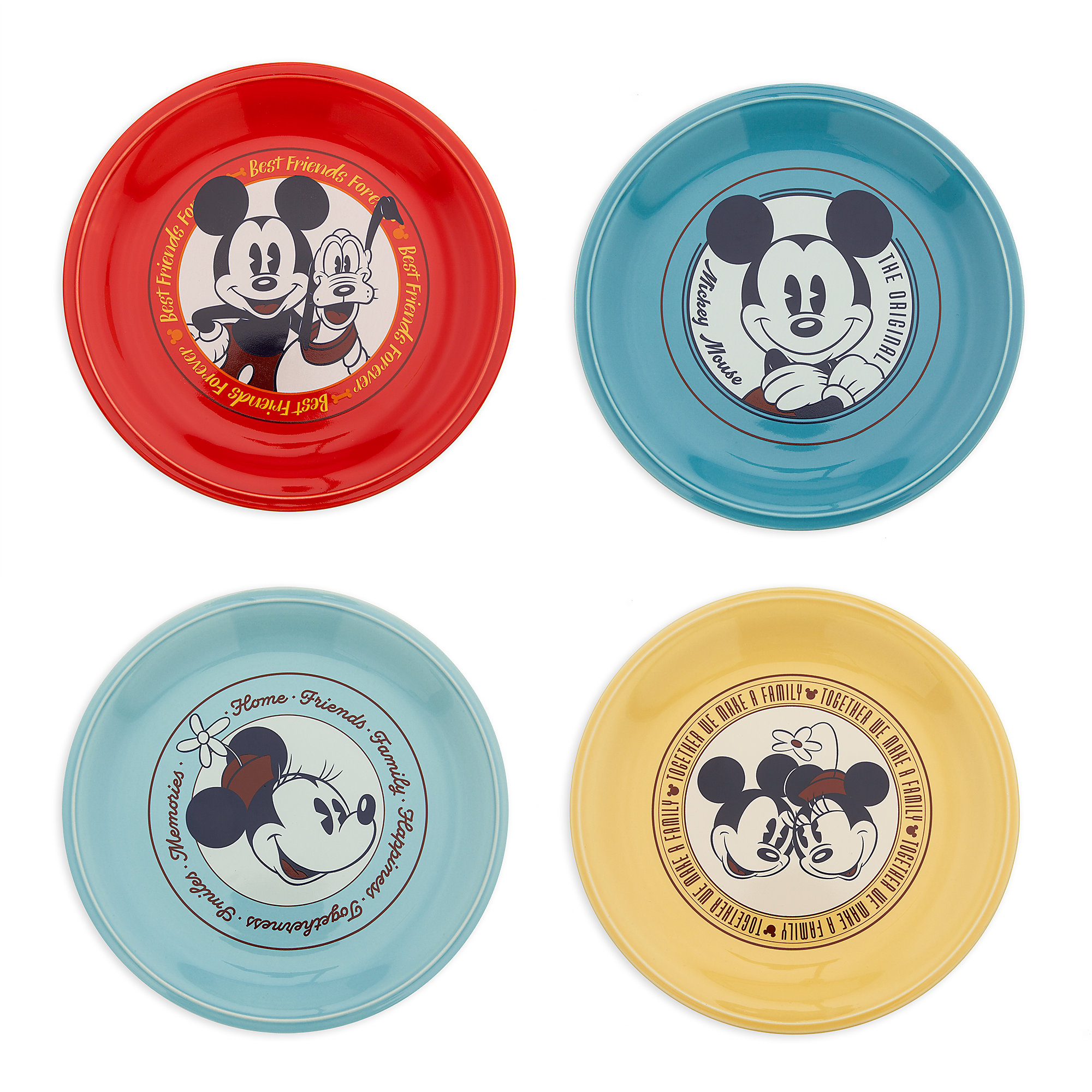 Mickey Mouse and Friends Ceramic Plate Set - 4 pc  sc 1 st  shopDisney & Mickey Mouse and Friends Ceramic Plate Set - 4 pc | shopDisney