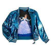 Image of Cinderella Reversible Sequin Bomber Jacket for Girls # 2