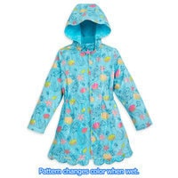 Ariel Color Changing Rain Jacket for Girls