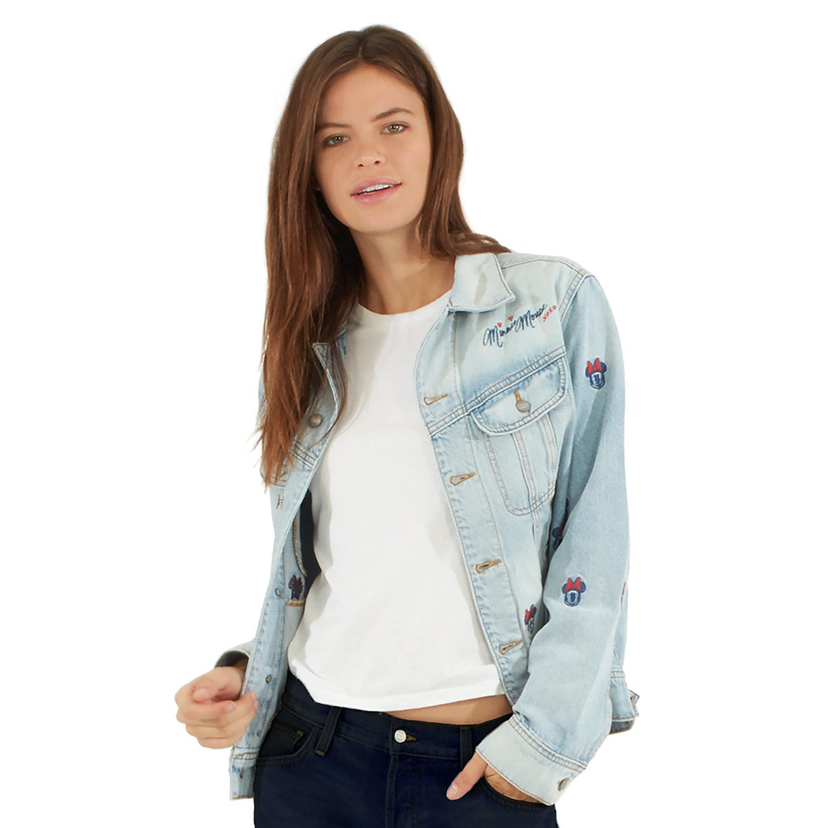 414e4809dc8 Product Image of Minnie Mouse Embroidered Denim Jacket by SIWY   1