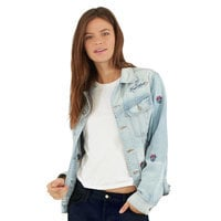 Minnie Mouse Embroidered Denim Jacket by SIWY