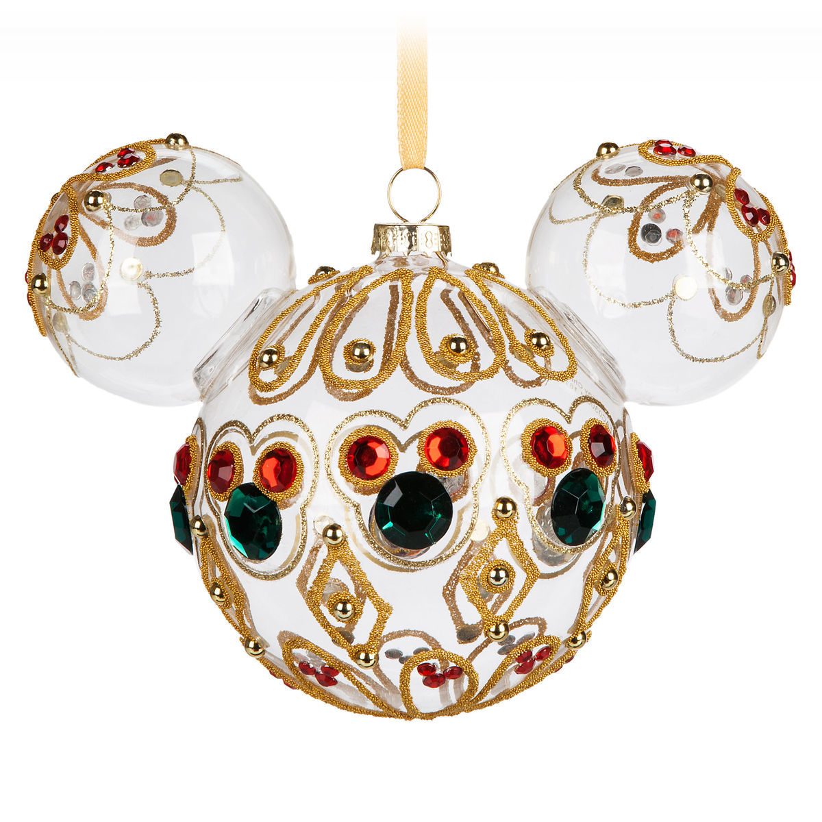 Mickey Mouse Icon Glass Ornament - Bejeweled | shopDisney
