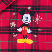 Image of Mickey Mouse Holiday Plaid PJ Set for Boys - Personalizable # 3
