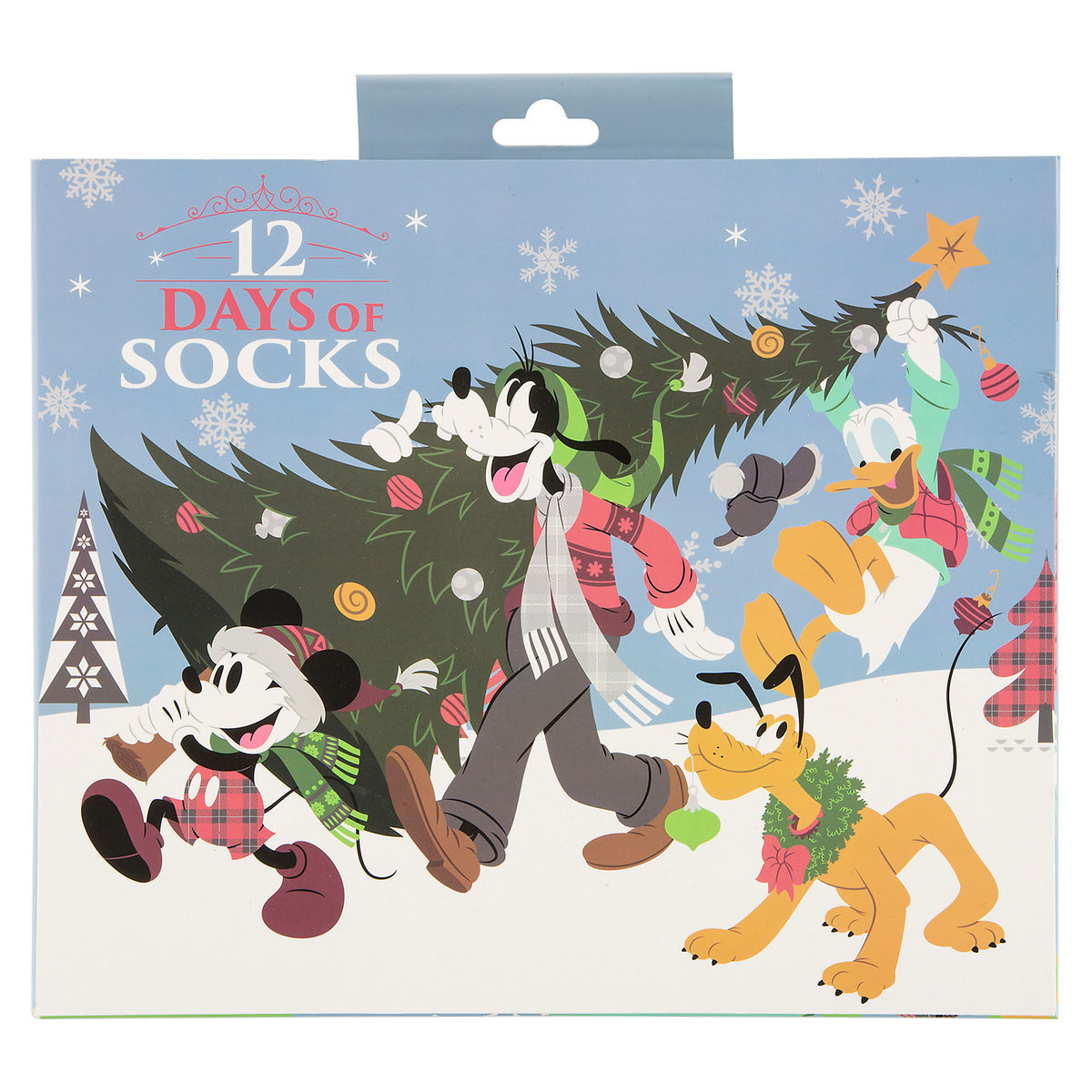 product image of santa mickey mouse and friends 12 days of socks 1
