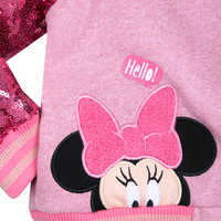 Image of Minnie Mouse Pink Sequin Varsity Jacket - Personalized # 3
