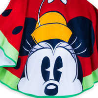 Image of Mickey and Minnie Mouse Watermelon Beach Towel - Summer Fun # 4