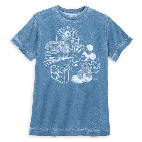 Mickey Mouse Red Car Trolley Disney Parks Artist Series T-Shirt for Men by Mike Sullivan