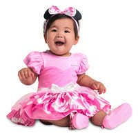 Image of Minnie Mouse Costume Bodysuit for Baby - Pink - Personalized # 2