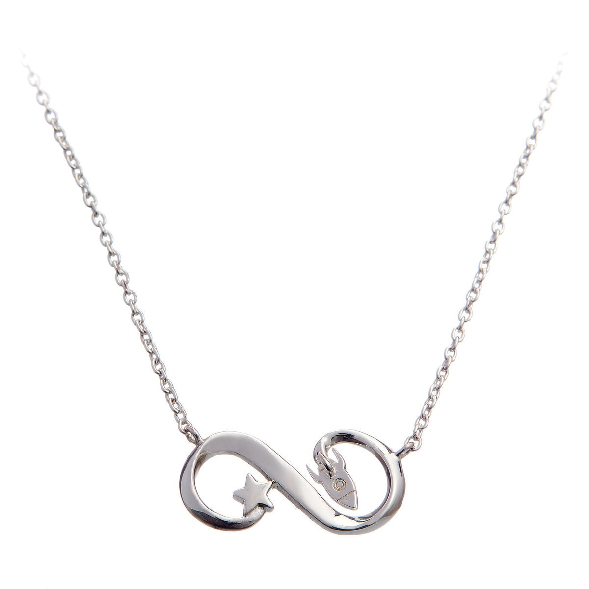 necklace sign shop sterling silver heart shopping infinity with adam