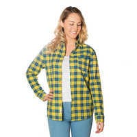 Image of Flounder Flannel Shirt for Adults by Cakeworthy - The Little Mermaid # 2