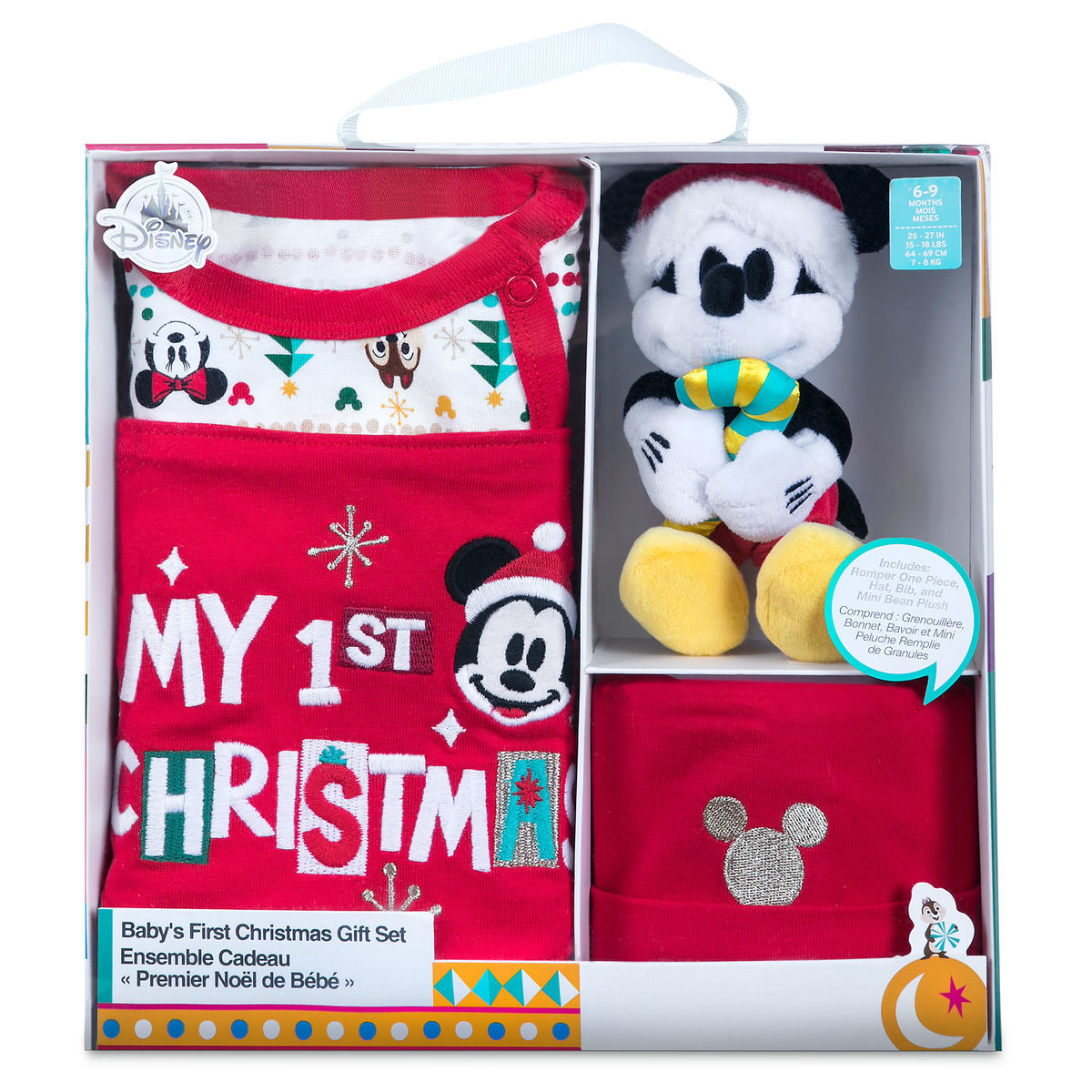 Santa Mickey Mouse First Christmas Gift Set for Baby  4a9ce1dc63e0