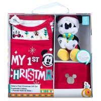 Image of Santa Mickey Mouse First Christmas Gift Set for Baby # 6