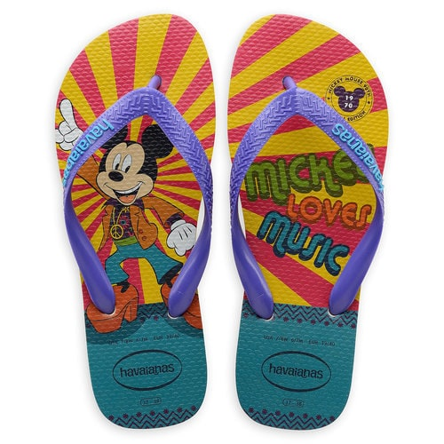 Mickey Mouse Disco Flip Flops for Adults by Havaianas - 1970s