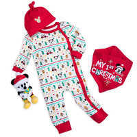 Image of Santa Mickey Mouse First Christmas Gift Set for Baby # 1