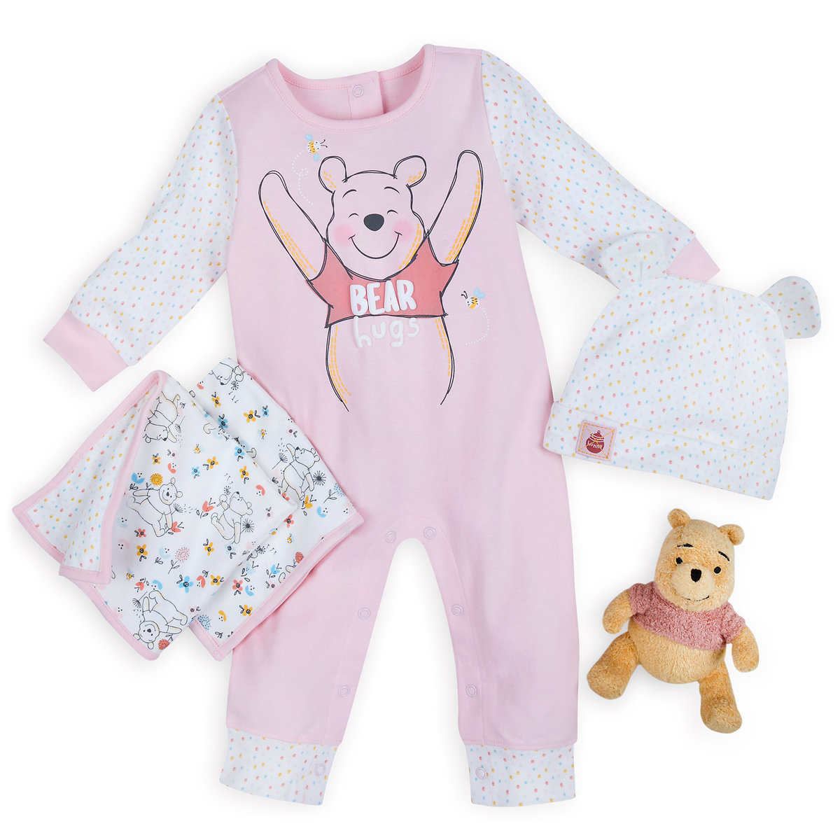 Winnie The Pooh Gift Set For Baby Pink Shopdisney