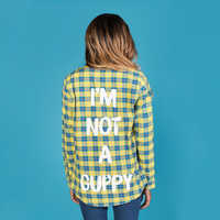 Image of Flounder Flannel Shirt for Adults by Cakeworthy - The Little Mermaid # 5