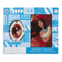 Image of Pocahontas Artist Series Sketchbook Ornament and Lithograph Set - Limited Edition # 5