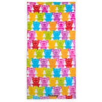 Image of Mickey and Minnie Mouse Gummy Bear Beach Towel - Personalizable # 1