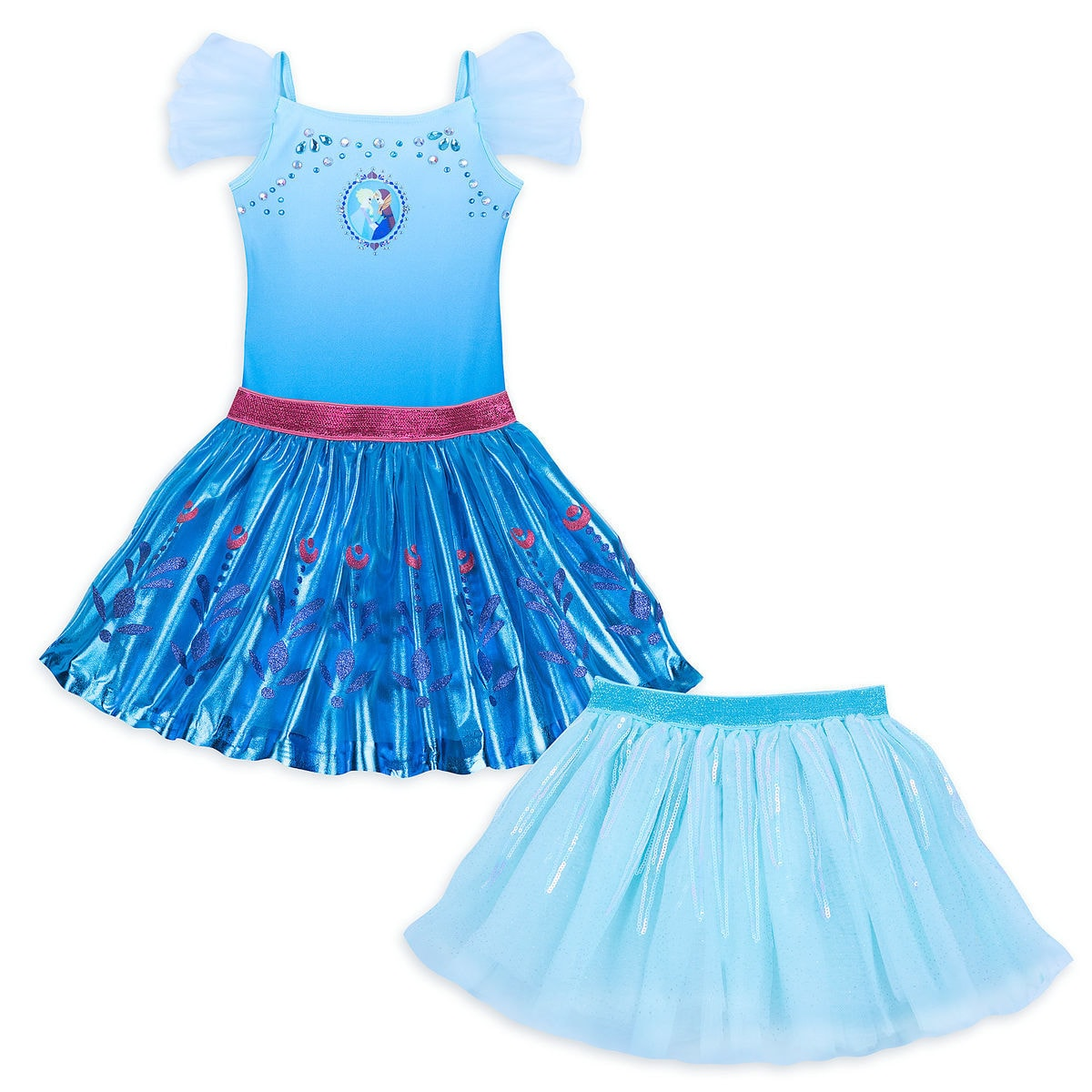 bd99ed2dca30b Product Image of Frozen Deluxe Leotard and Tutu Set for Girls   1