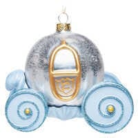 Image of Cinderella Pumpkin Carriage Glass Ornament # 1