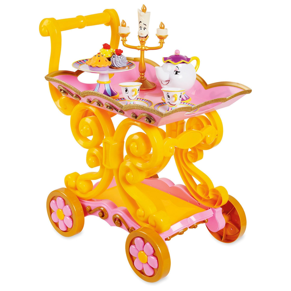 4899440f0e7 Beauty and the Beast   Be Our Guest   Singing Tea Cart Play Set ...