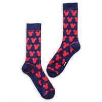 Image of Mickey Mouse Navy and Red Socks - Adults # 1