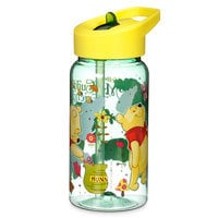 Winnie the Pooh Water Bottle with Flip Straw - Small