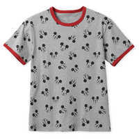 Image of Mickey Mouse Allover Ringer T-Shirt for Men # 1