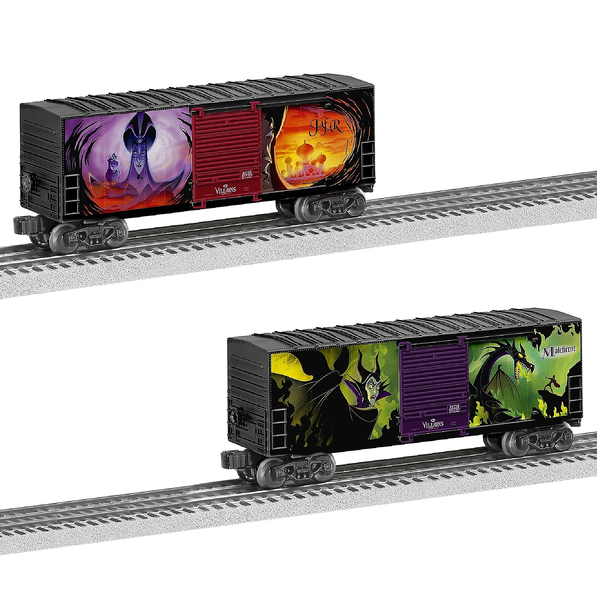 Disney Villains Hi-Cube Boxcar Set by Lionel