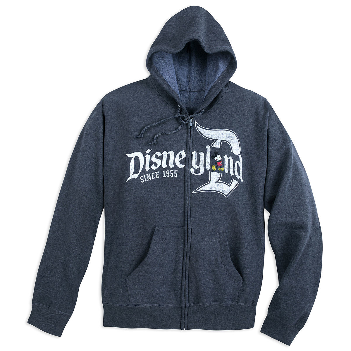0edbd0d83da Product Image of Mickey Mouse Zip Hoodie for Adults - Disneyland   1