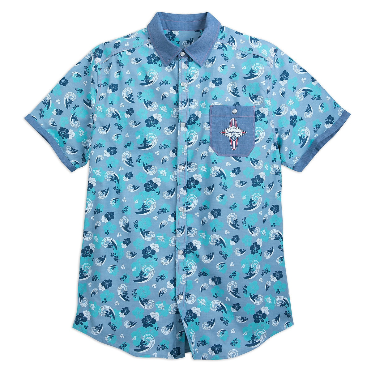 87408b8c3 Product Image of Mickey Mouse Surf Woven Shirt for Men # 1