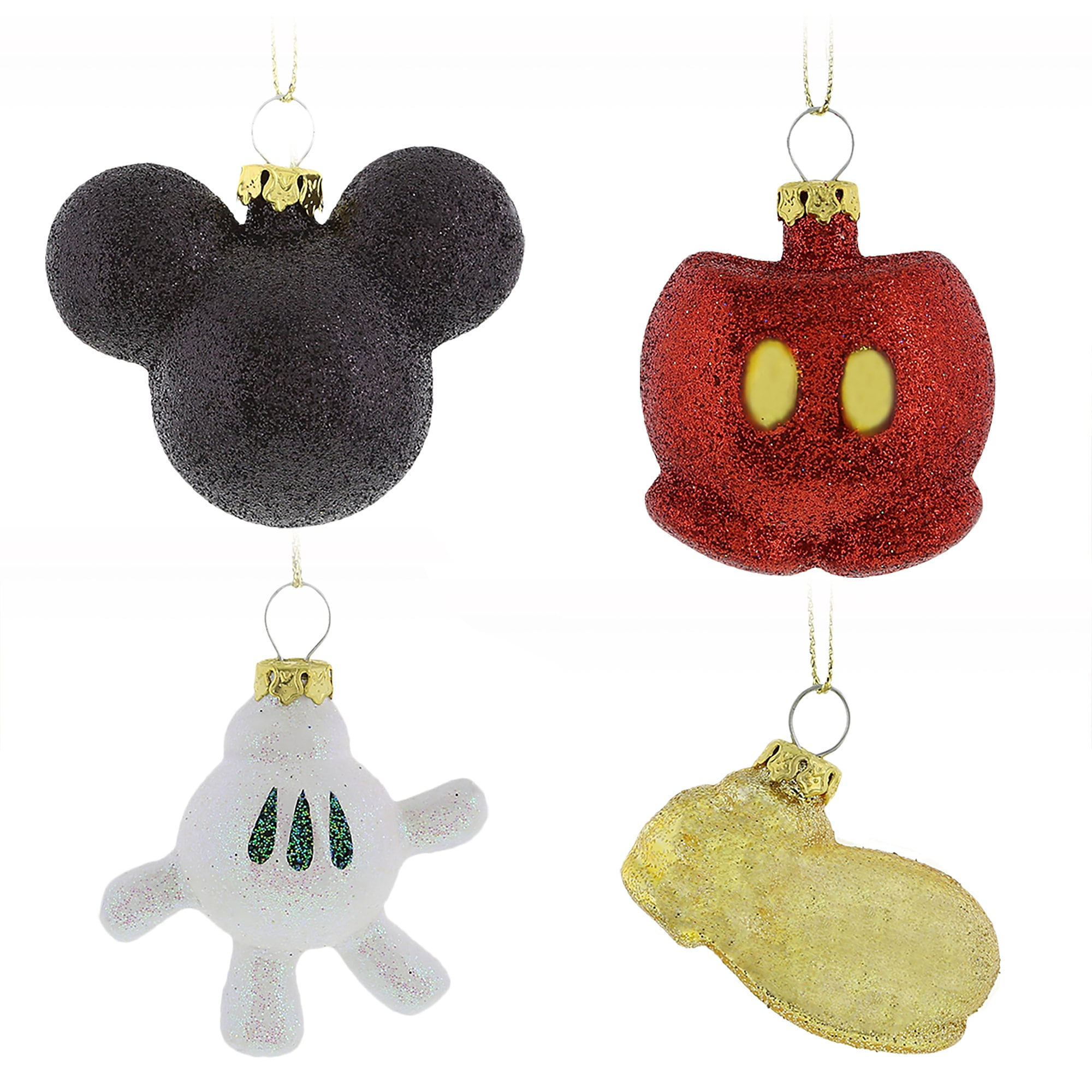 Best of Mickey Mouse Glass Ornament Set