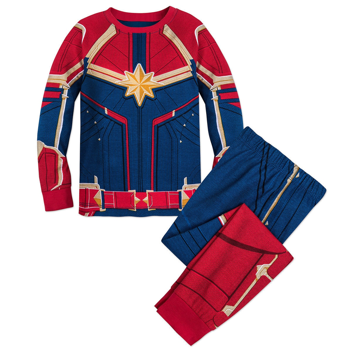 1551d6fb Product Image of Marvel's Captain Marvel Costume PJ PALS for Girls # 1