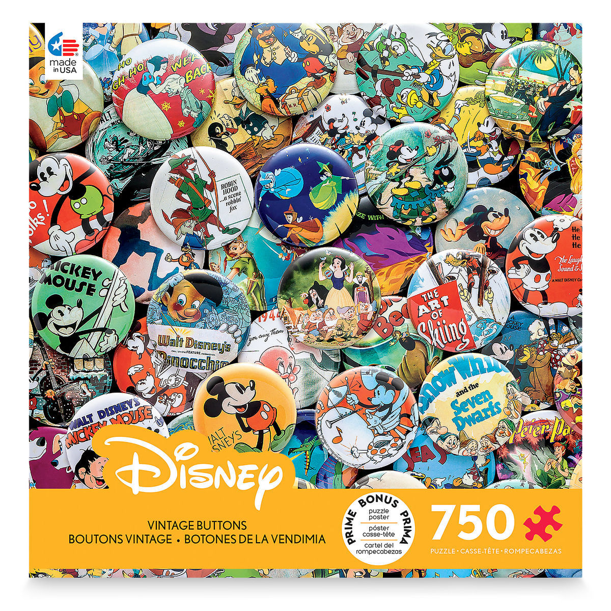 disney vintage buttons jigsaw puzzle by ceaco shopdisney