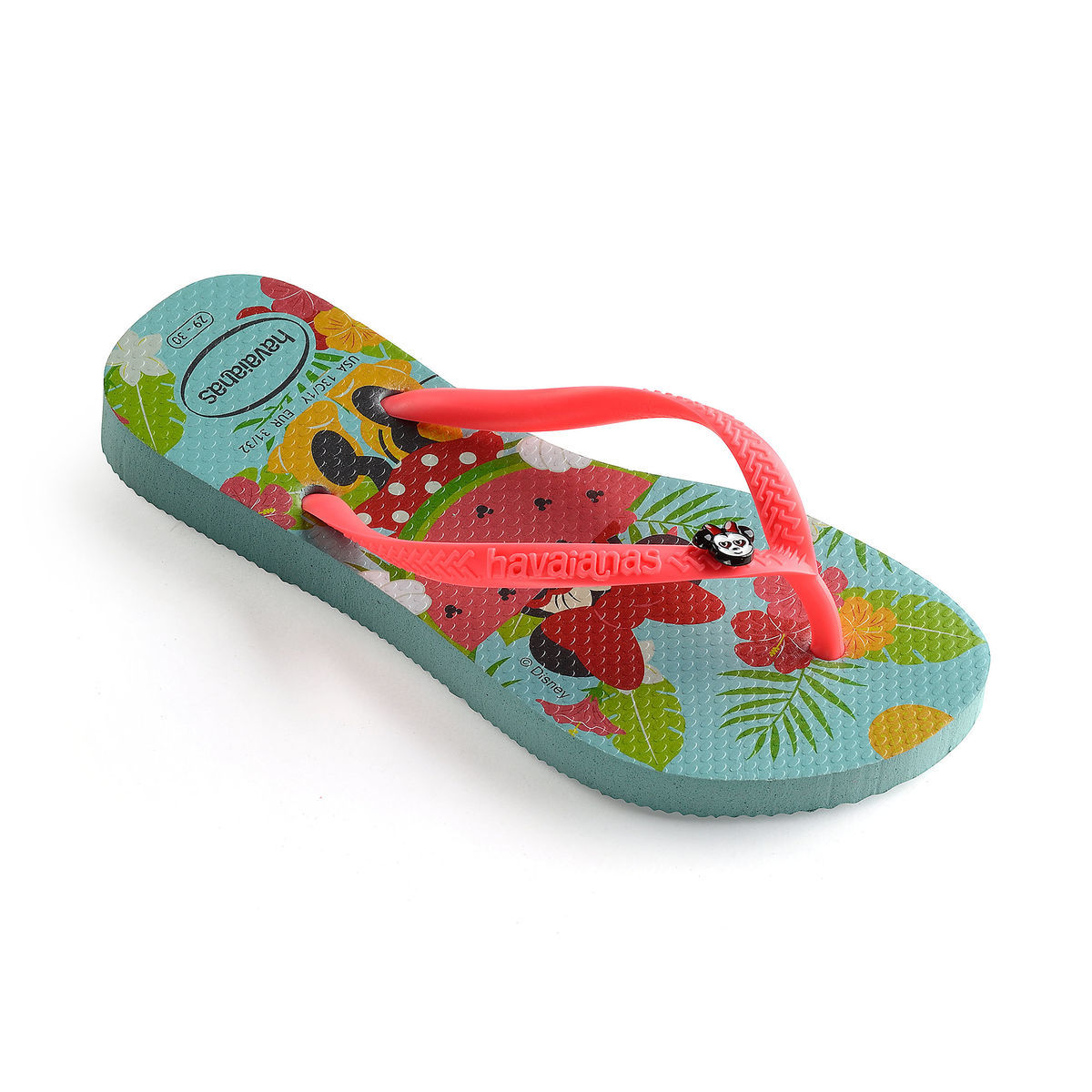 8bb8c0f9101d43 Product Image of Minnie Mouse Tropical Flip Flops for Kids by Havaianas   1