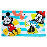Image of Mickey and Minnie Mouse Summer Fun Beach Towel # 1