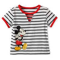 Image of Mickey Mouse Striped Top for Girls # 1