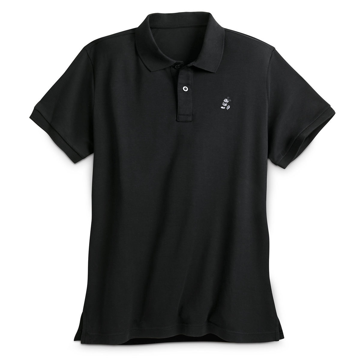 Mickey Mouse Pima Cotton Polo Shirt For Men Black Shopdisney