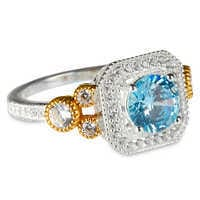 Image of Mickey Mouse Blue Jewel Ring by Rebecca Hook # 1