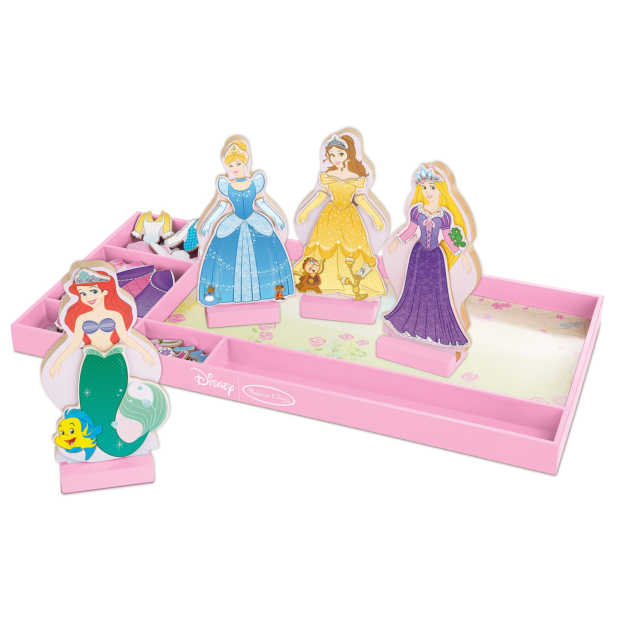 Disney Princess Deluxe Wooden Magnetic Dress-Up Set by Melissa & Doug