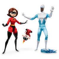 Image of Elastigirl, Jack-Jack, and Frozone Doll Set - Disney Designer Collection PIXAR Animation Studios Series - Limited Edition # 1