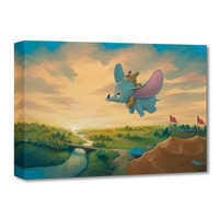 Image of Dumbo ''Flight Over the Big Top'' Giclée on Canvas by Rob Kaz # 1