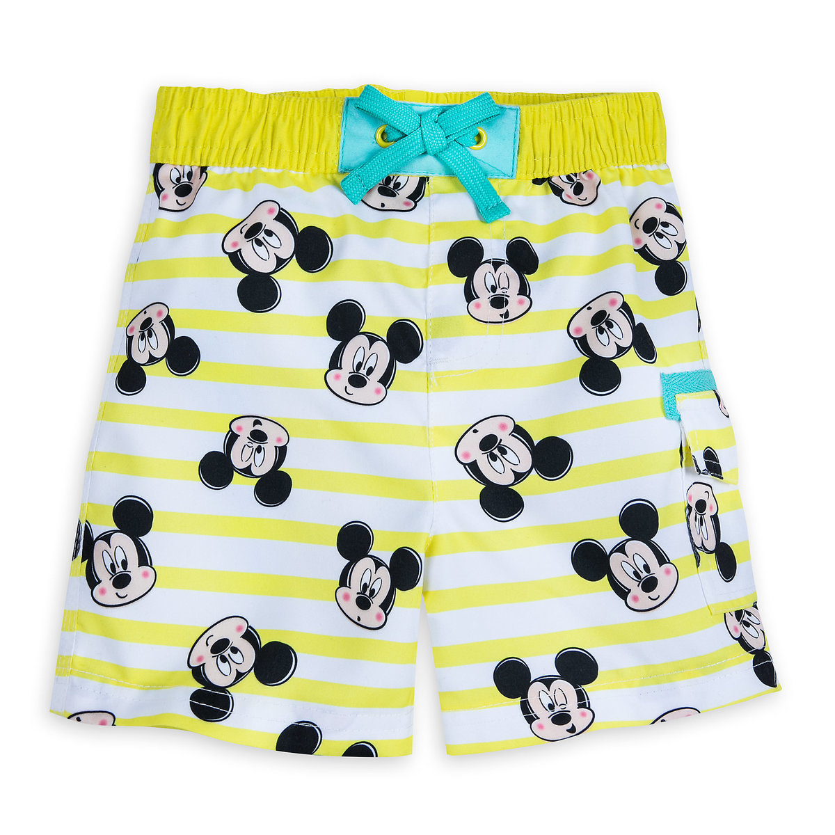 c892471980 Product Image of Mickey Mouse Striped Swim Trunks for Baby # 1