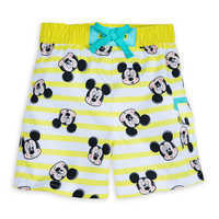Image of Mickey Mouse Striped Swim Trunks for Baby # 1