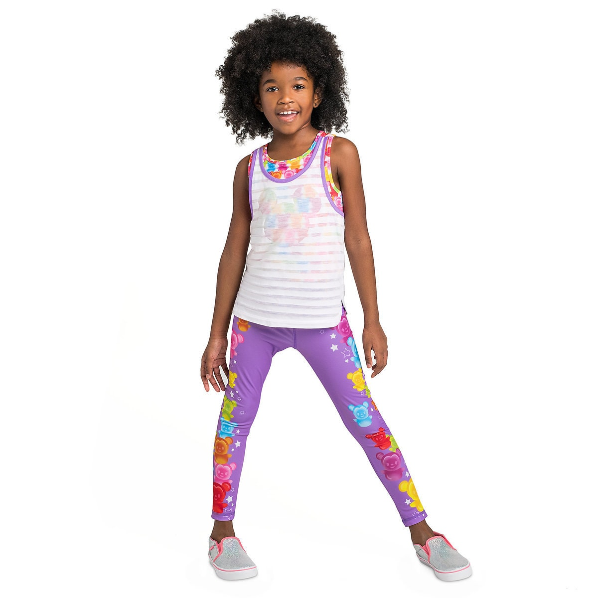 e6be8127b30396 Product Image of Mickey and Minnie Mouse Tank Top and Leggings Set for  Girls # 2